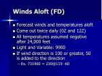 winds aloft fd