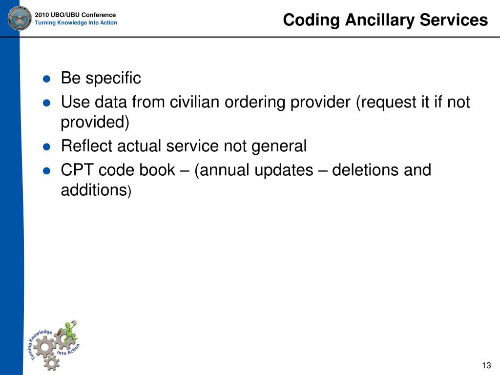 Coding Ancillary Services