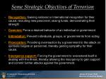 some strategic objectives of terrorism