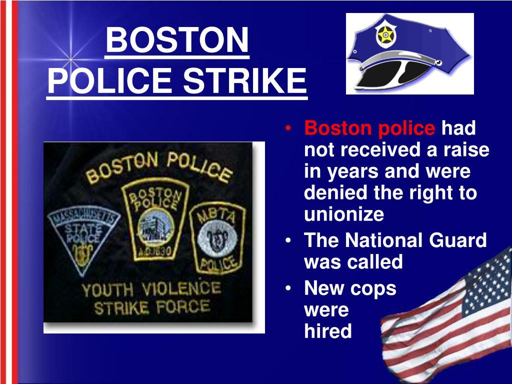 BOSTON POLICE STRIKE