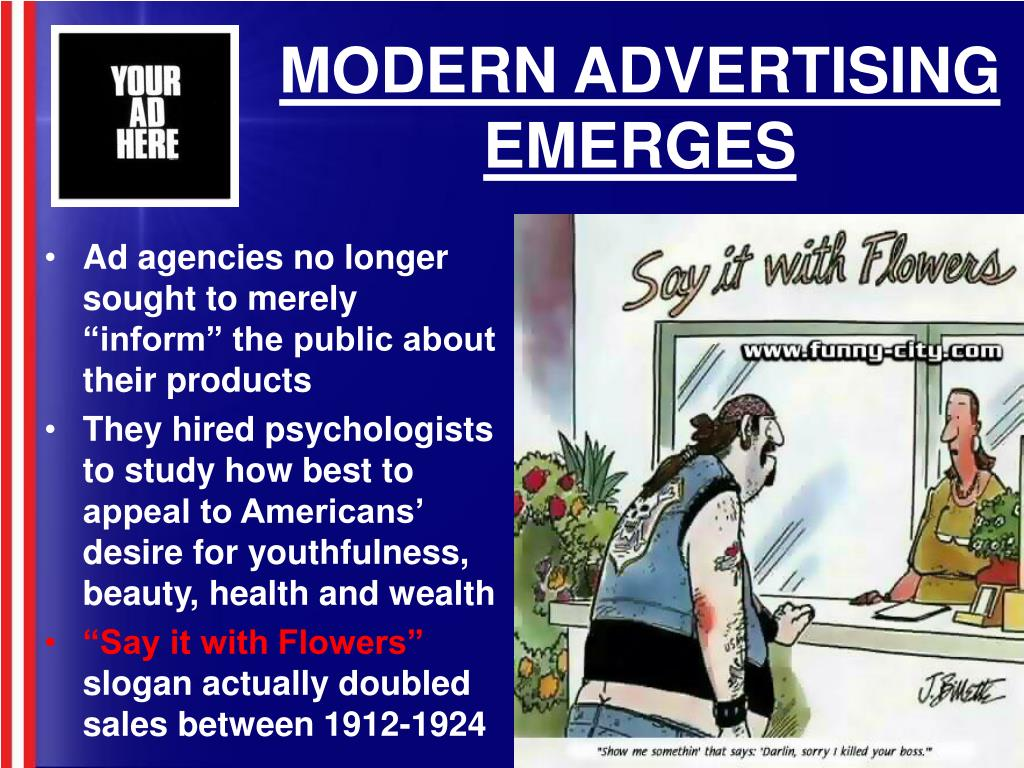 MODERN ADVERTISING EMERGES