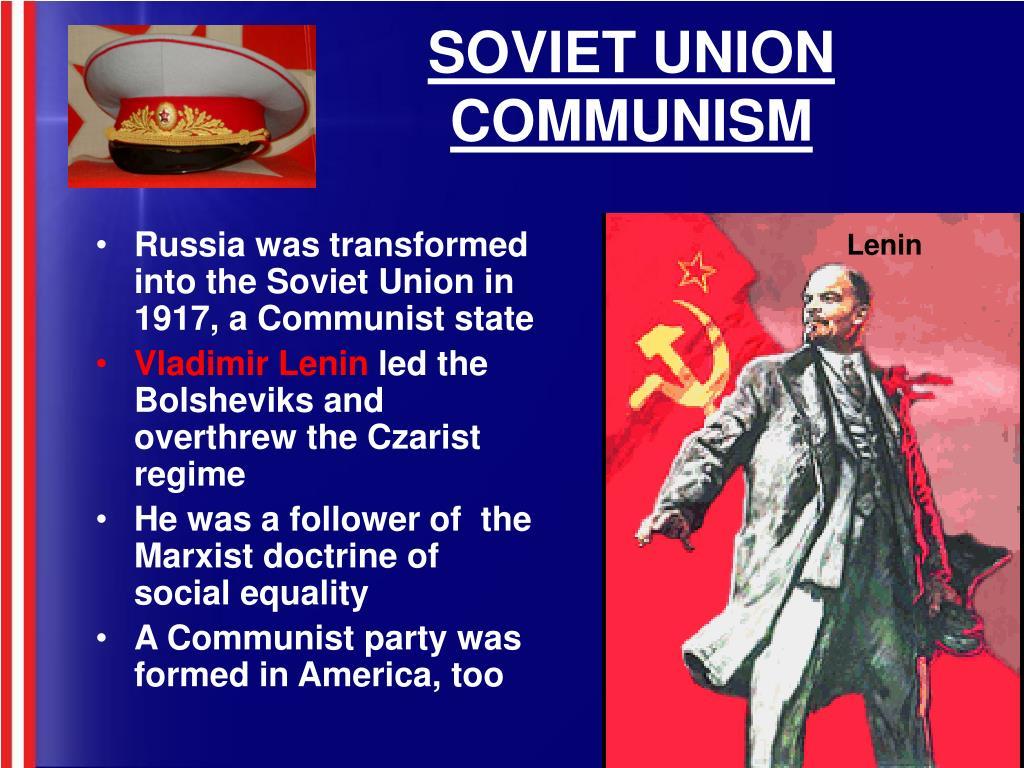 SOVIET UNION COMMUNISM