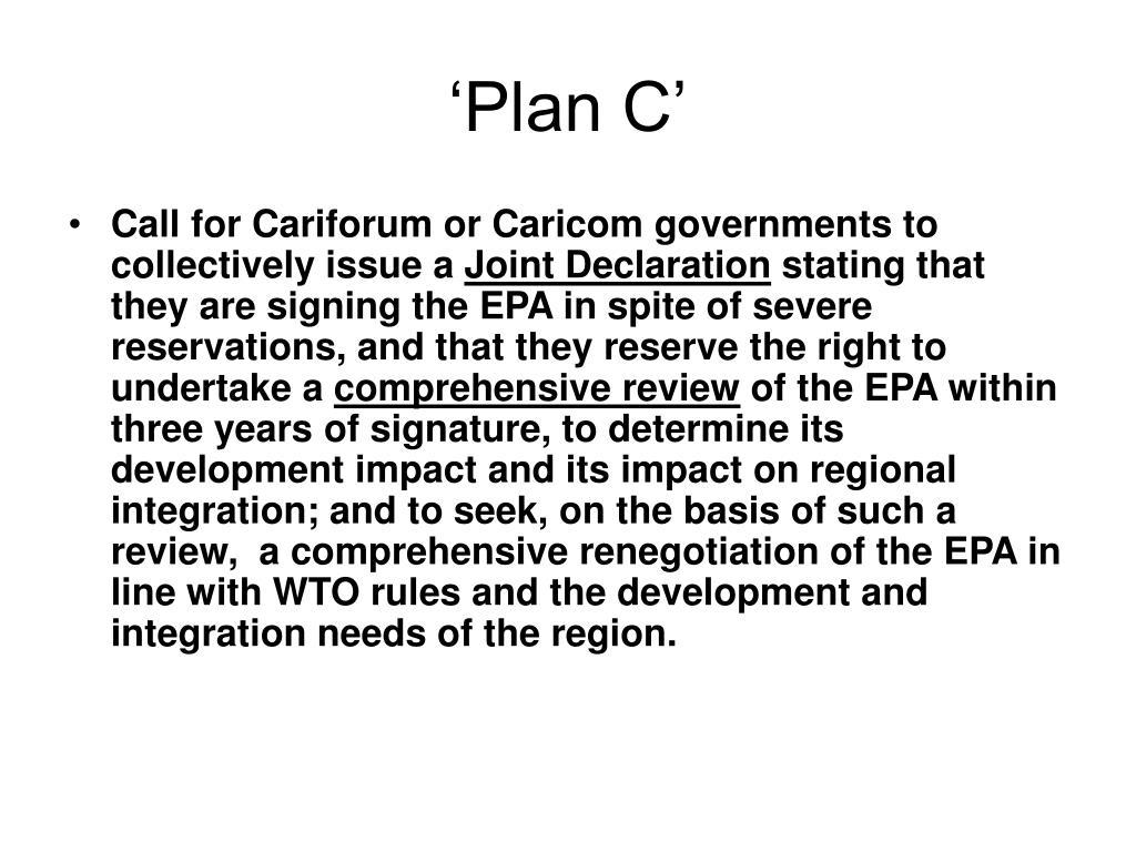 'Plan C'