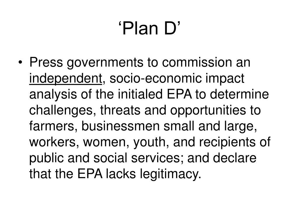 'Plan D'