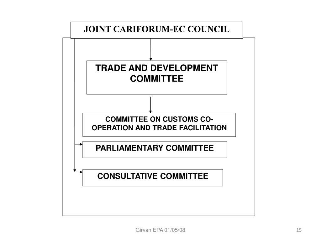 JOINT CARIFORUM-EC COUNCIL