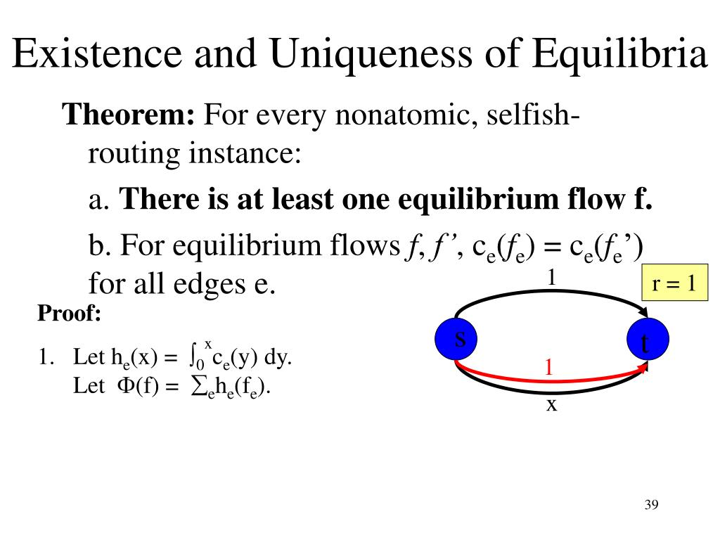 Existence and Uniqueness of Equilibria