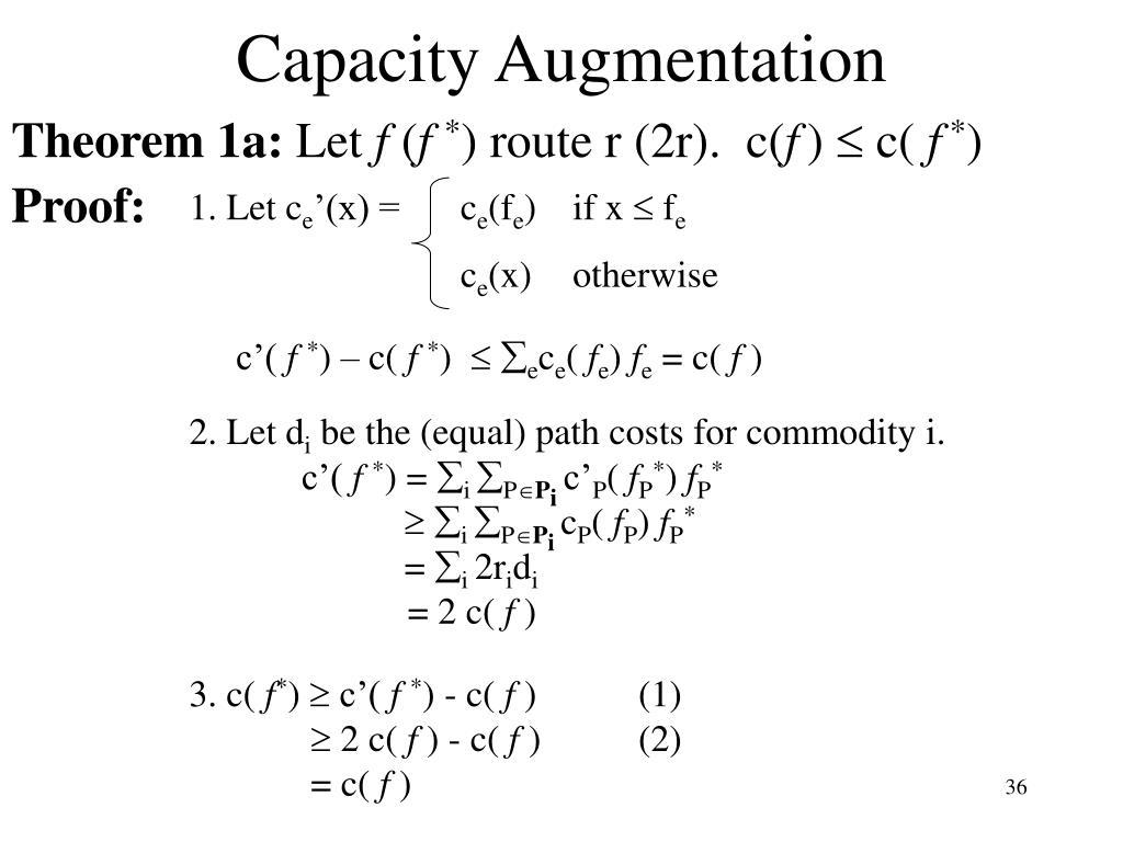 Capacity Augmentation