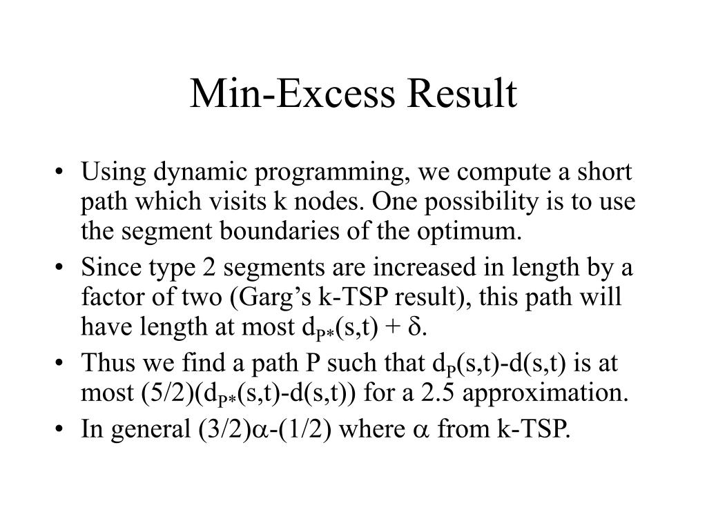 Min-Excess Result