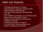 high risk patients