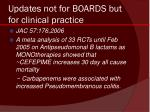 updates not for boards but for clinical practice
