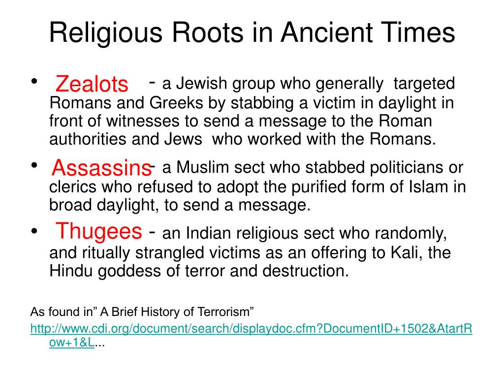 Religious Roots in Ancient Times