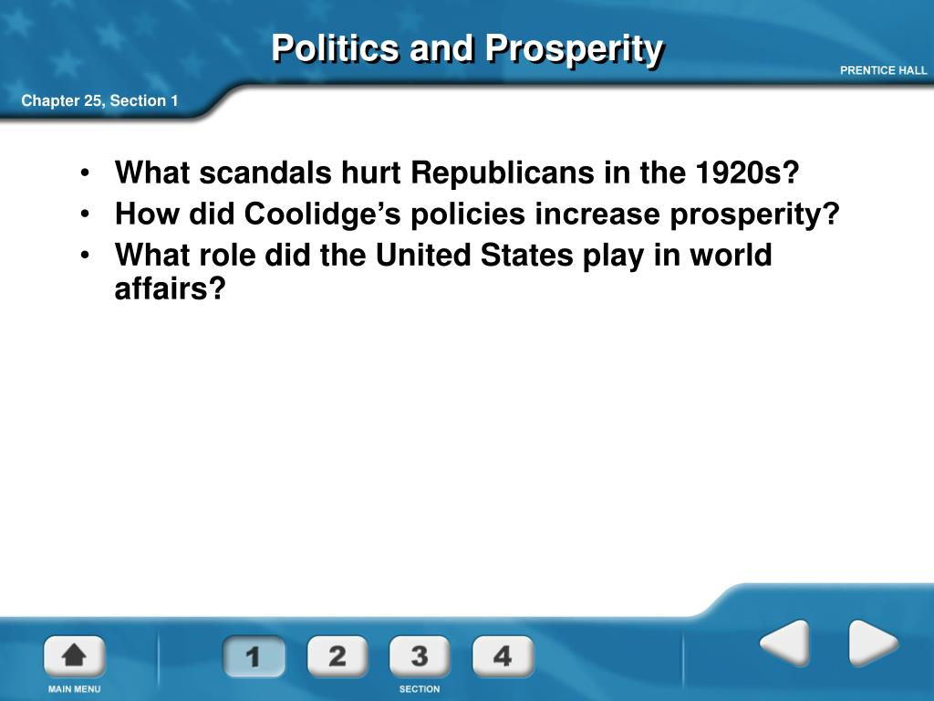 Politics and Prosperity