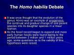 the homo habilis debate