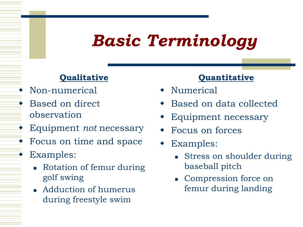 basic terminology l.