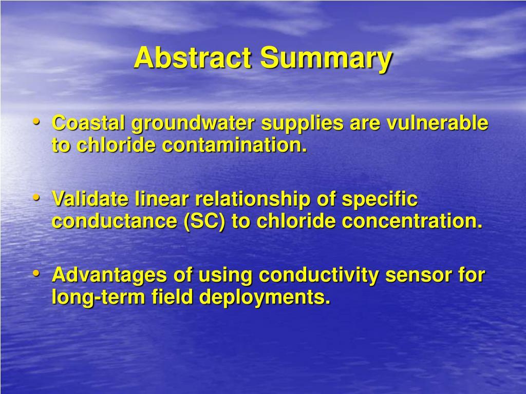 Abstract Summary