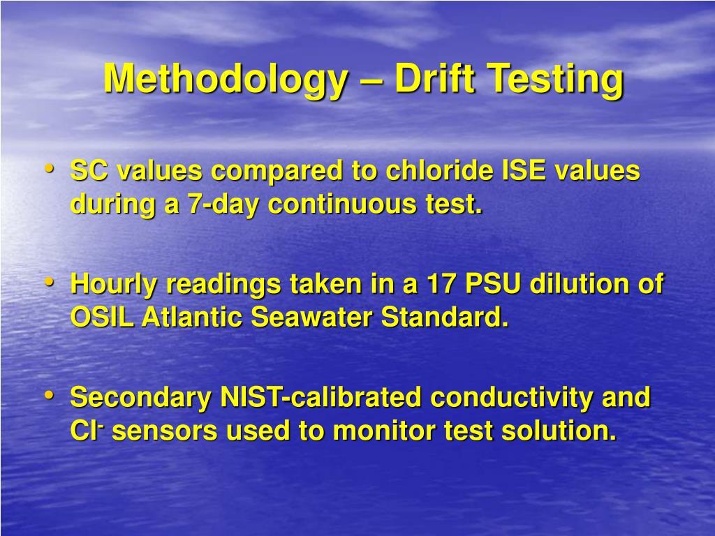 Methodology – Drift Testing