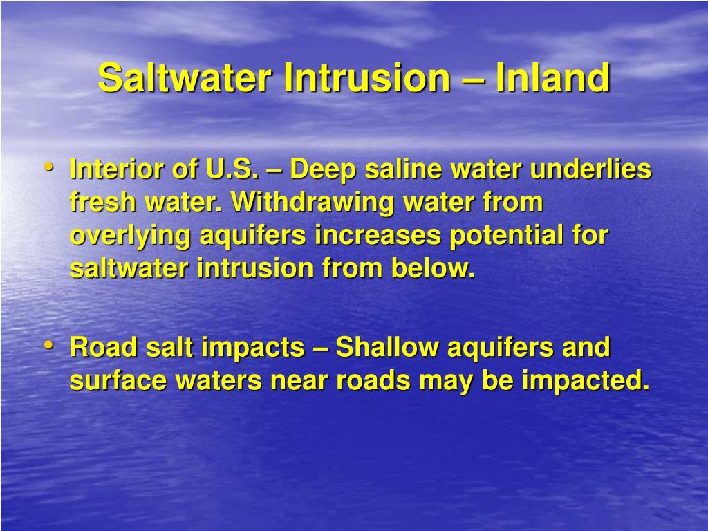 Saltwater Intrusion – Inland