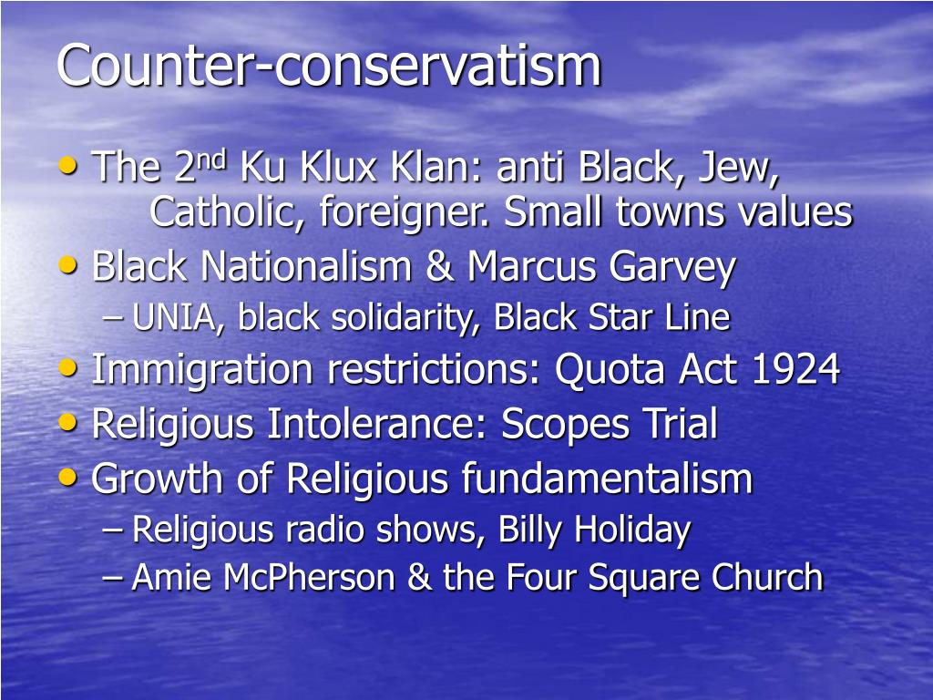 Counter-conservatism