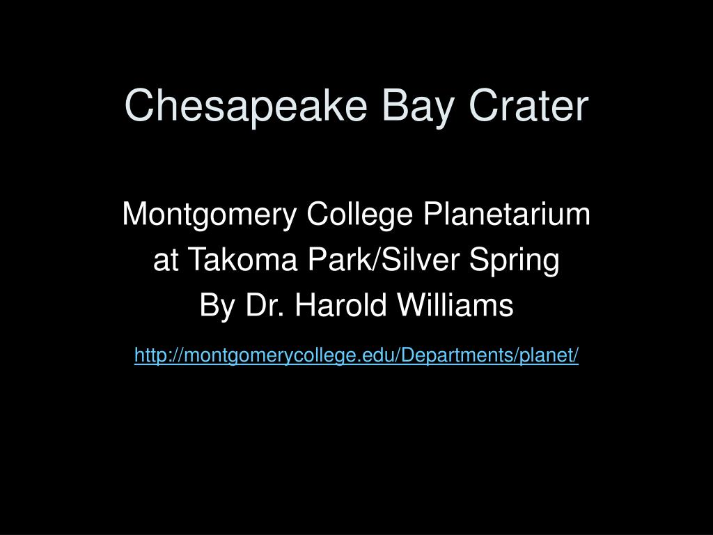 chesapeake bay crater l.