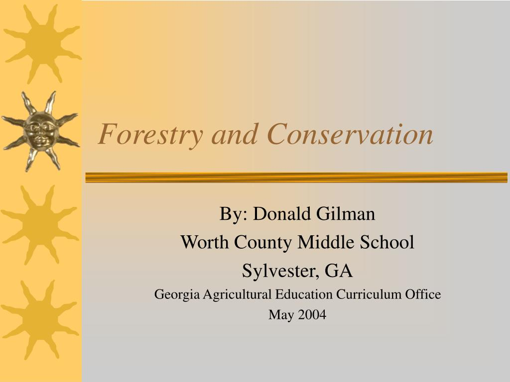 forestry and conservation l.