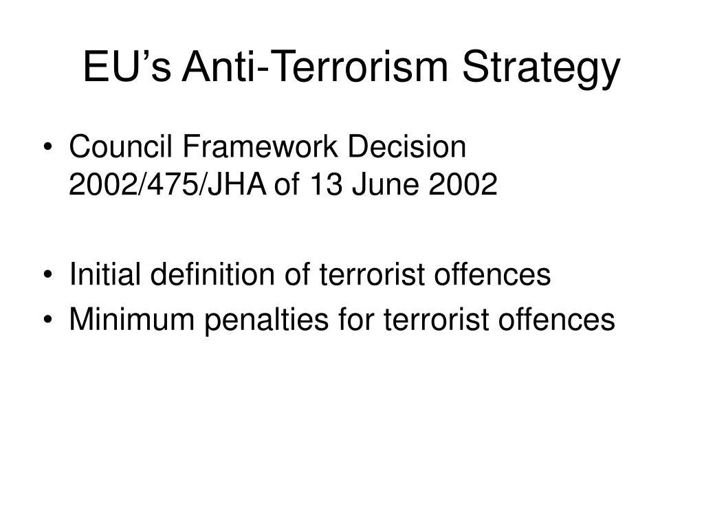 EU's Anti-Terrorism Strategy