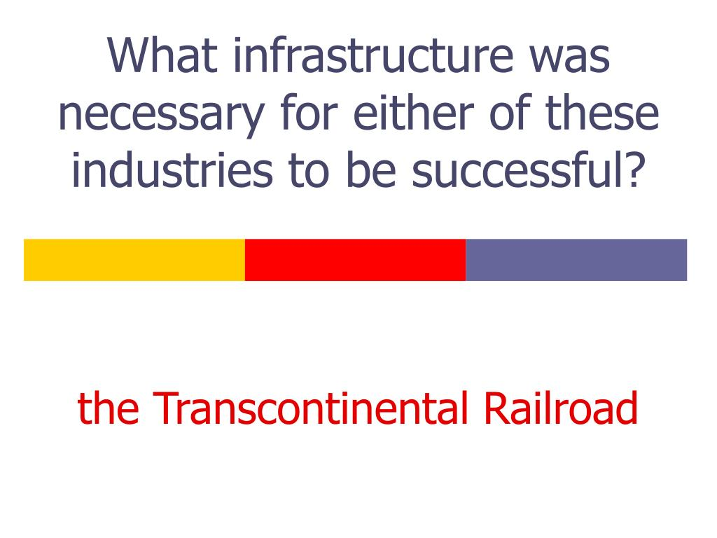 What infrastructure was necessary for either of these industries to be successful?
