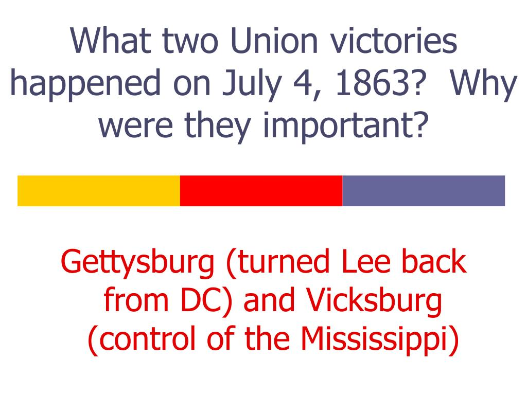What two Union victories happened on July 4, 1863?  Why were they important?