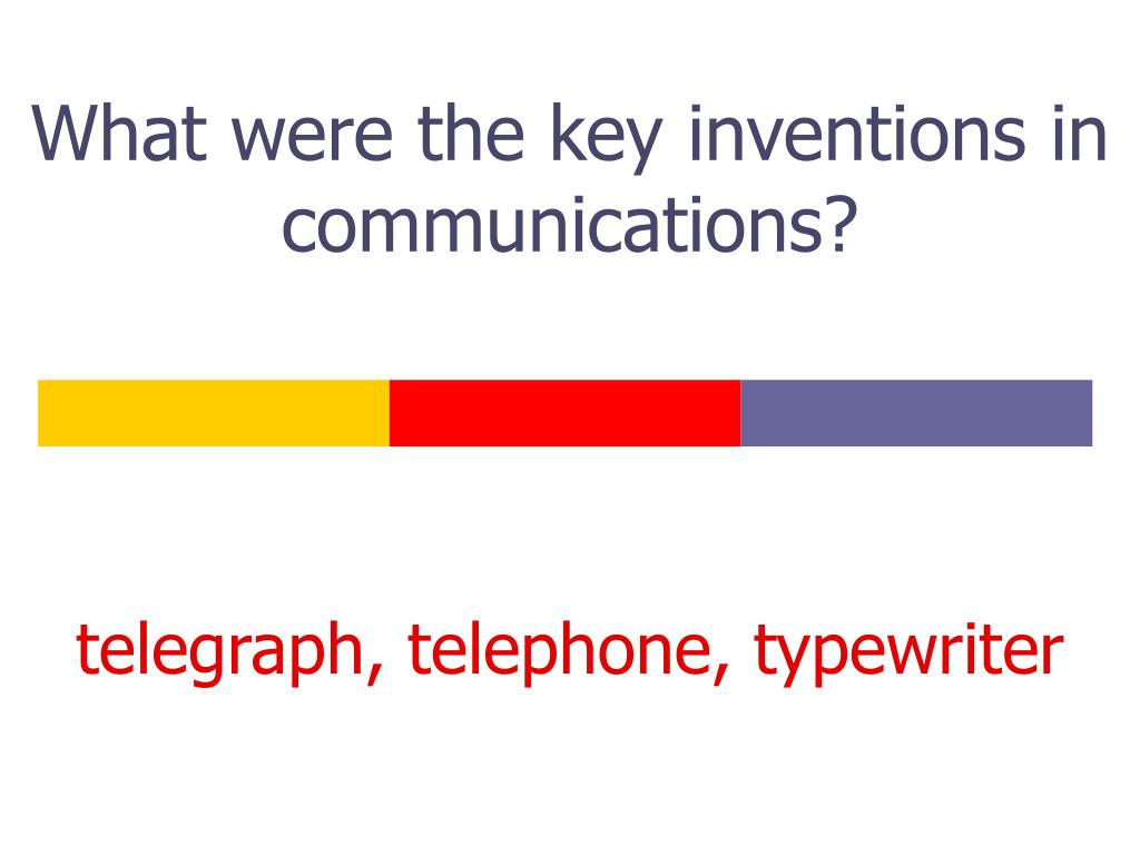 What were the key inventions in communications?