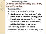 confined aquifer unsteady state flow hantush s method15