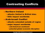 contrasting conflicts