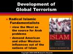 development of global terrorism