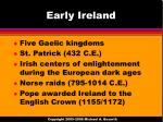 early ireland
