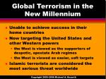 global terrorism in the new millennium