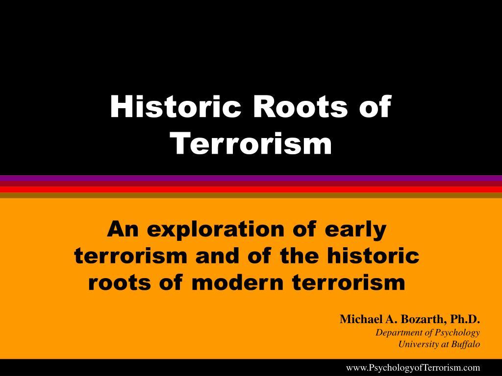 historic roots of terrorism l.