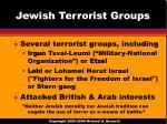 jewish terrorist groups