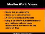 muslim world views