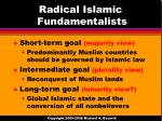 radical islamic fundamentalists