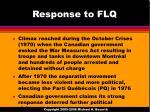 response to flq
