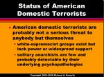 status of american domestic terrorists