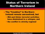 status of terrorism in northern ireland