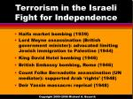 terrorism in the israeli fight for independence