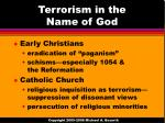 terrorism in the name of god