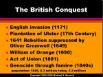 the british conquest