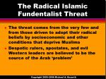 the radical islamic fundentalist threat