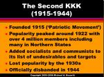 the second kkk 1915 1944