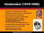 unabomber 1978 1996