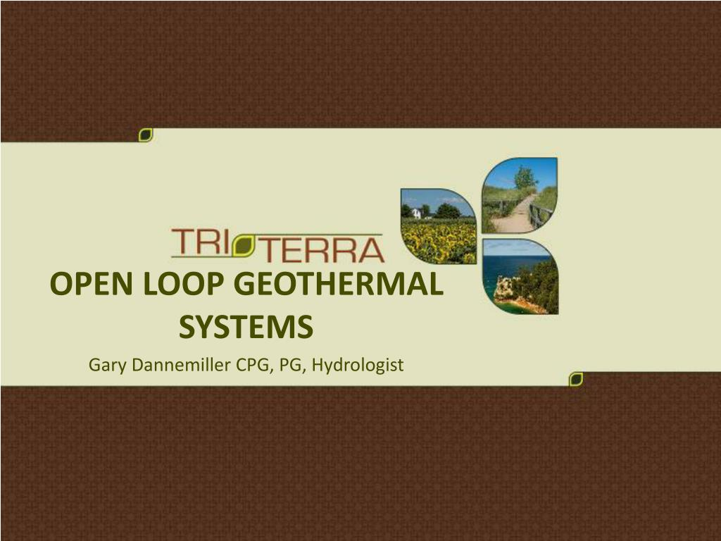 open loop geothermal systems l.