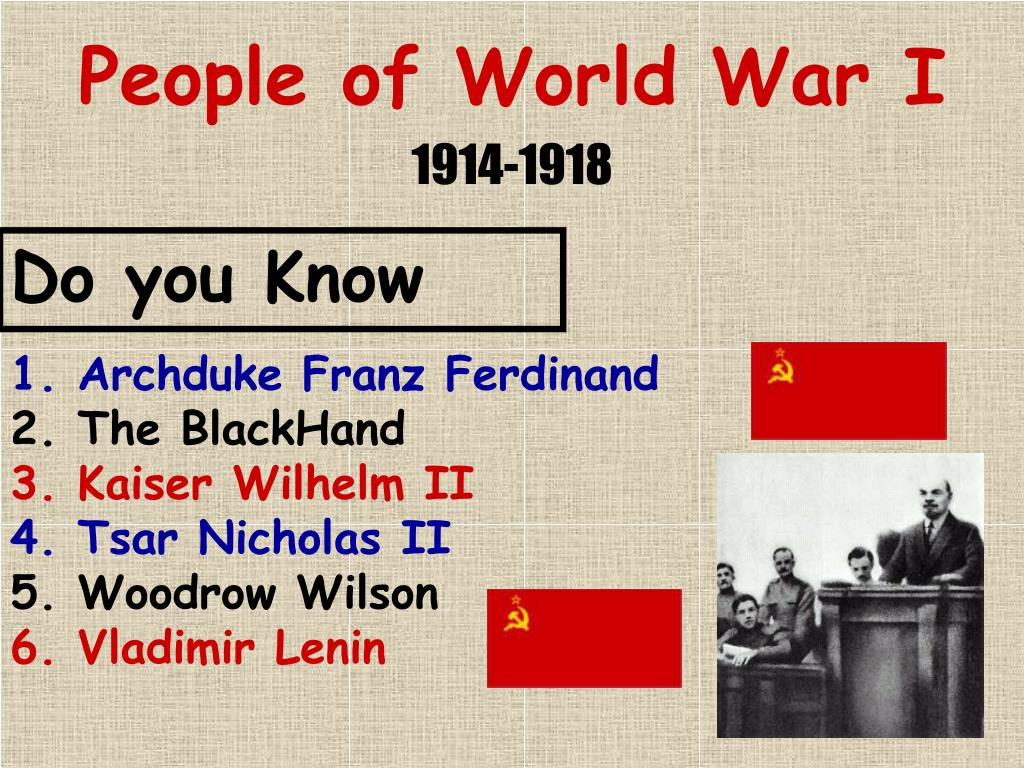 People of World War I