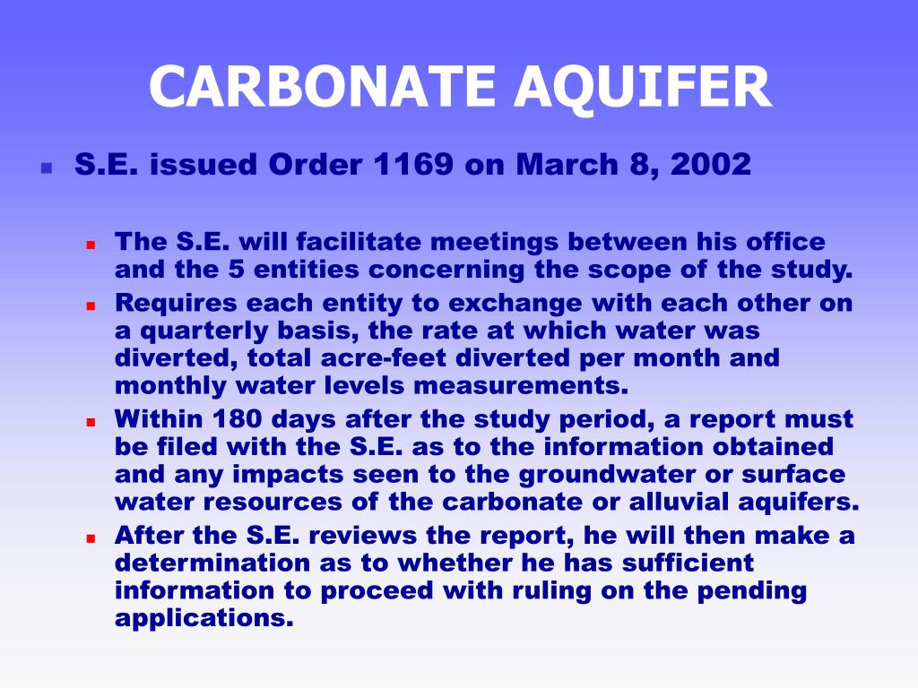 CARBONATE AQUIFER