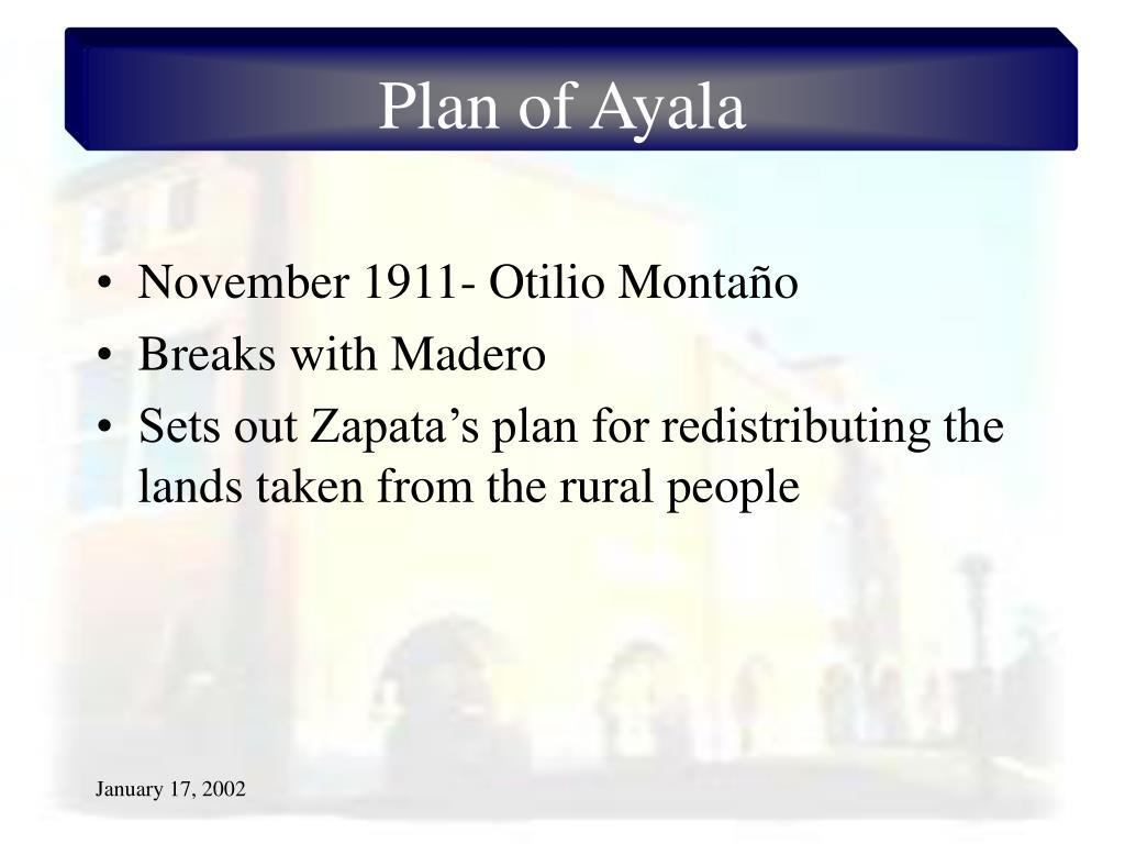 Plan of Ayala
